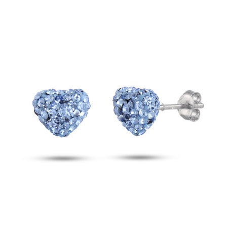 Dazzling Blue Swarovski Crystal Heart Earrings | Eve's Addiction®