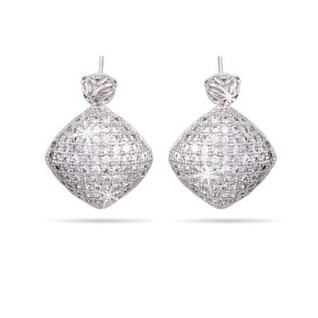 Diamond Micropave CZ Drop Earrings