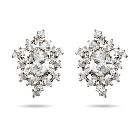 Diamond Clustered CZ's Earrings