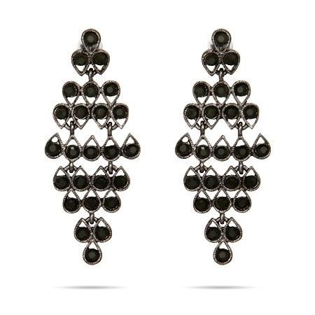 Classic Onyx CZ Chandelier Earrings | Eve's Addiction®