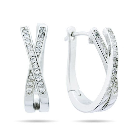 X Style CZ Sparkling Huggie Earrings | Eve's Addiction®