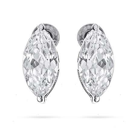 1.5 Carat Marquise Cut CZ Stud Earrings | Eve's Addiction®