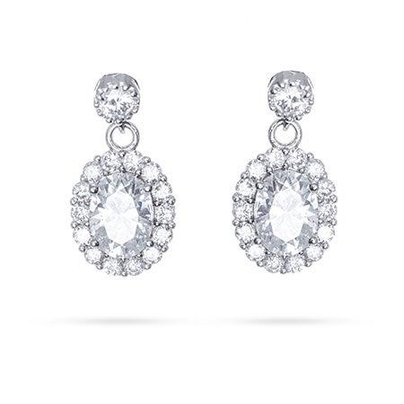 Sparkling Halo Dangle CZ Earrings   Eve's Addiction®