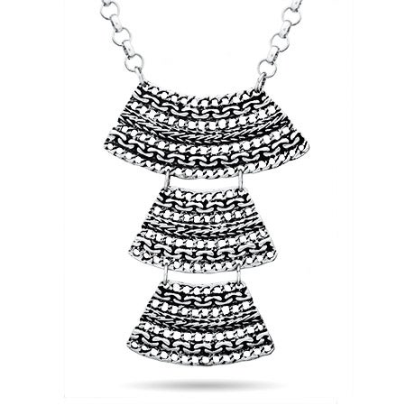Pyramid Style Layered Statement Necklace
