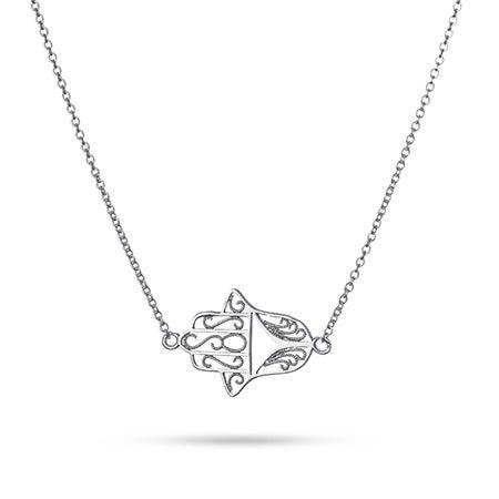 Sideways Hamsa Necklace