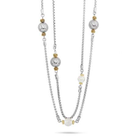 """Designer Inspired 60"""" Faux Pearl and Bead Necklace"""