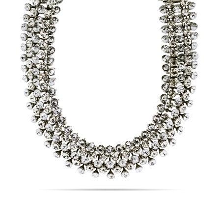 Glamorous 5 Row Cubic Zirconia Choker Necklace