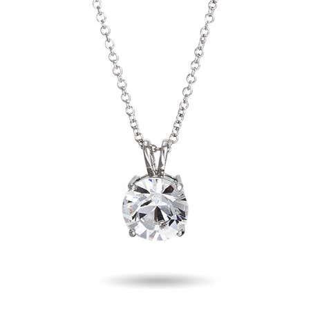 7 Carat Brilliant Cut Solitaire Swarovski Crystal Necklace