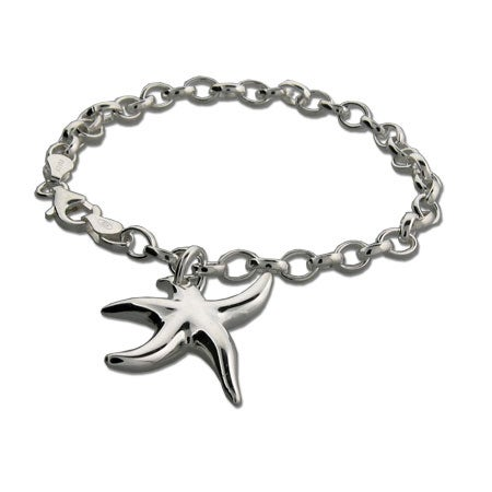 Tiffany Style Sterling Silver Starfish Bracelet | Eve's Addiction®