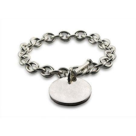 Sterling Heavy Gauge Round Tag Bracelet | Eve's Addiction®