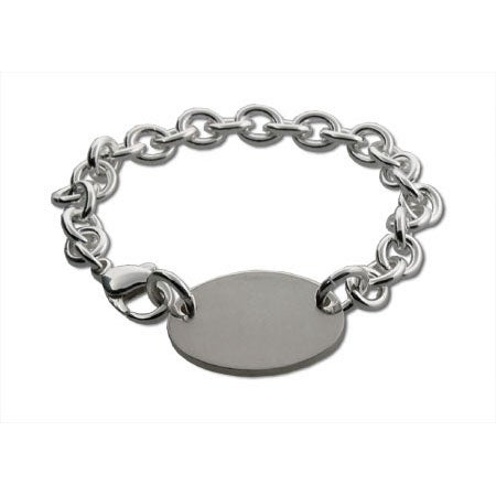 Oval Tag Silver Bracelet | Eve's Addiction®