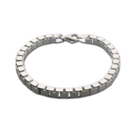 Sterling Silver Box Link Venetian Bracelet