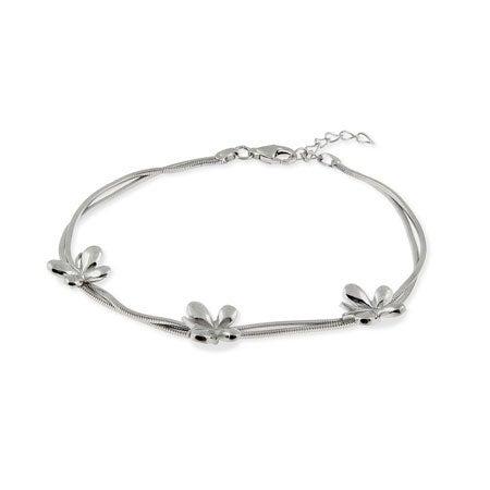 Sterling Silver Butterfly Bracelet | Eve's Addiction®