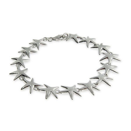Sterling Silver Happy Starfish Bracelet | Eve's Addiction®