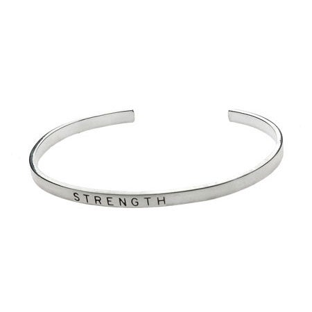 Strength Stackable Friendship Bracelet in Sterling Silver | Eve's Addiction®