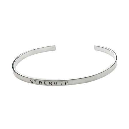 Strength Stackable Friendship Bracelet in Sterling Silver