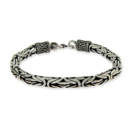 Mens Sterling Silver Bali Bracelet | Eve's Addiction®