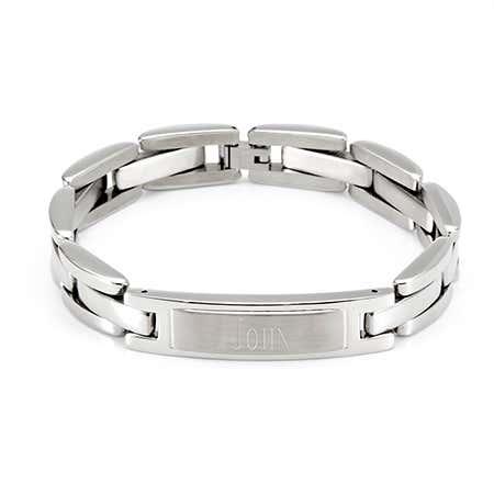 Men's Stainless Steel ID Engravable Bracelet
