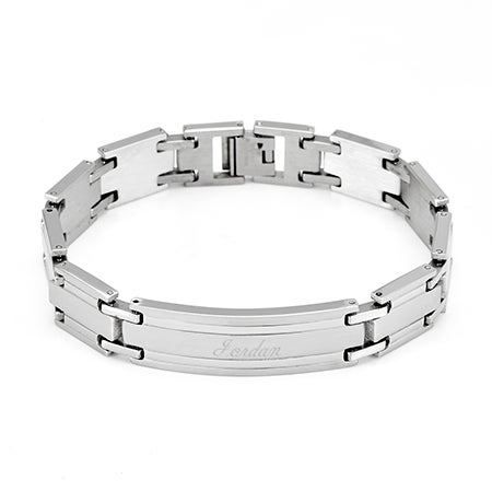 Mens Stainless Steel ID Bracelet | Eve's Addiction®