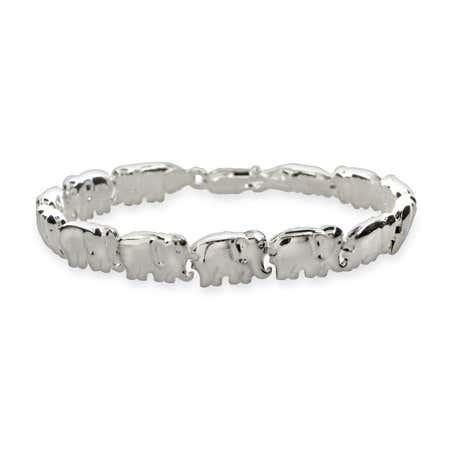 Sterling Silver African Elephant Parade Bracelet