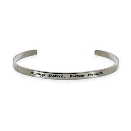 Always Sisters Forever Friends Stainless Steel Bracelet
