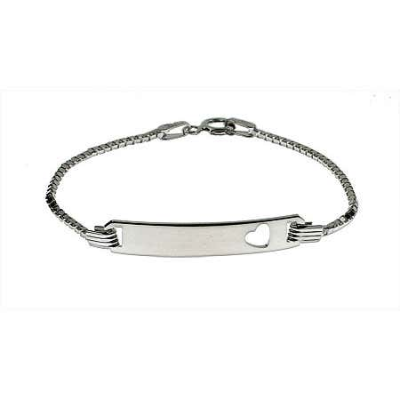 Engravable Box Link Childrens ID Bracelet | Eve's Addiction®