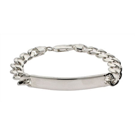 Ladies Sterling Silver Curb Link ID Bracelet | Eve's Addiction®