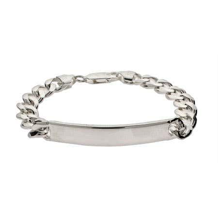 Ladies Sterling Silver Curb Link ID Bracelet
