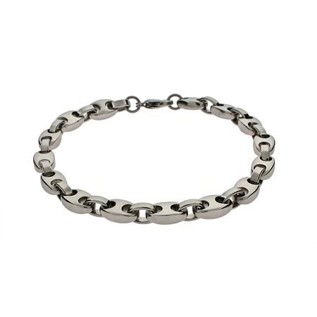 Men's Curb Link Stainless Steel Bracelet | Eve's Addiction