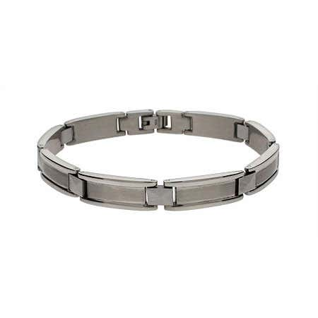 Men's Sophisticated Rectangular Link Bracelet | Eve's Addiction®