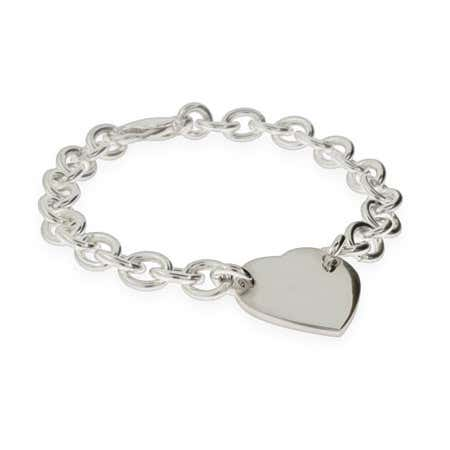 display slide 1 of 1 - Heart ID Engravable Bracelet - selected slide