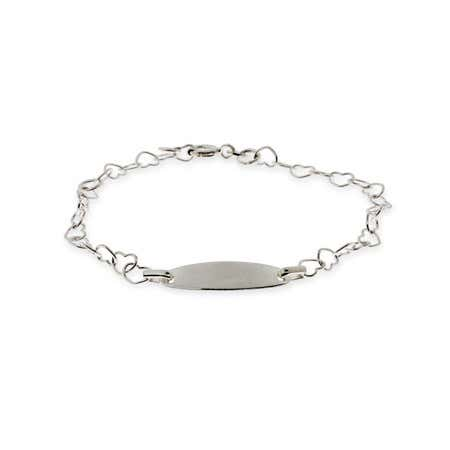 Heart Link Kids ID Bracelet