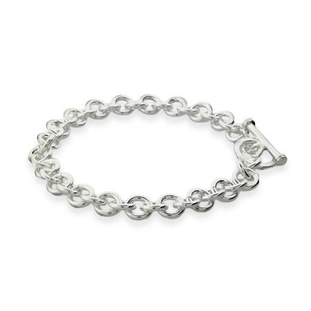 Heavy Gauge 8 Inch Toggle Bracelet in Premium Sterling Silver