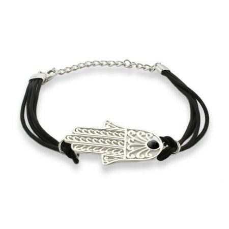 Magical Protection Hamsa Bracelet with Black Cord | Eve's Addiction®