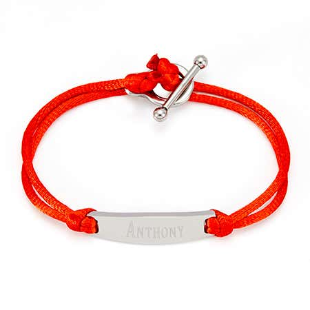 Engravable Stainless Steel Toggle ID Bracelet