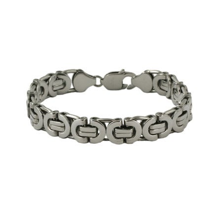 Mens Stainless Steel Bali Style Link Bracelet | Eve's Addiction®