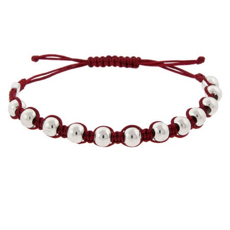 Sterling Silver Red Beaded Friendship Bracelet | Eve's Addiction®