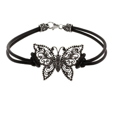 Sterling Silver Marcasite Butterfly Bracelet | Eve's Addiction®