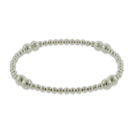 Sterling Silver Bead Stretch Bracelet | Eve's Addiction®
