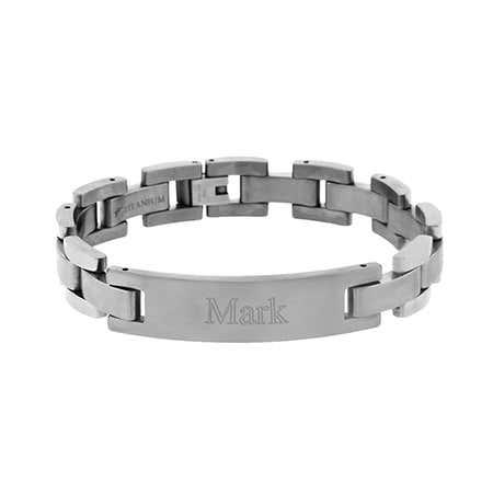 Men's 12mm Titanium ID Bracelet