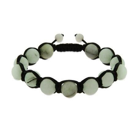 Light Jade Genuine Stone Balance Shamballa Style Bracelet | Eve's Addiction®