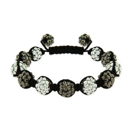 Metallic Studded Bead Shamballa Style Bracelet | Eve's Addiction®