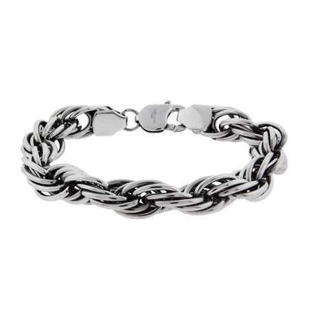 Men's Intertwined Oval Chain Link Bracelet | Eve's Addiction®