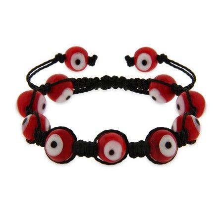 Red Evil Eye Shamballa Style Bracelet   Eve's Addiction®