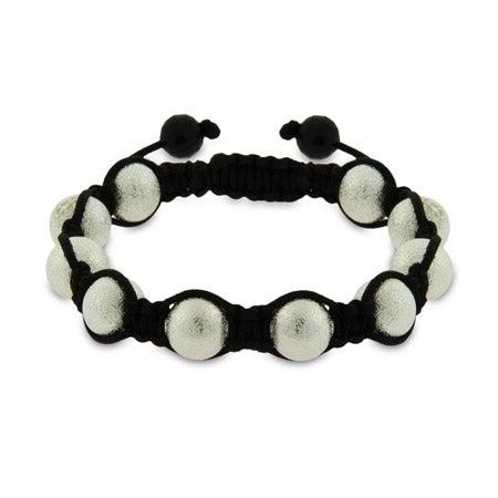 Sandblast Finish Shamballa Style Bracelet | Eve's Addiction®