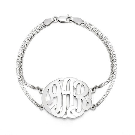 Sterling Silver Custom Monogram Bracelet | Eve's Addiction®