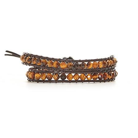 Chen Rai Genuine Tigers Eye Wrap Bracelet | Eve's Addiction®