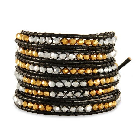 Chen Rai Gold and Silver Beaded Long Wrap Bracelet | Eve's Addiction®