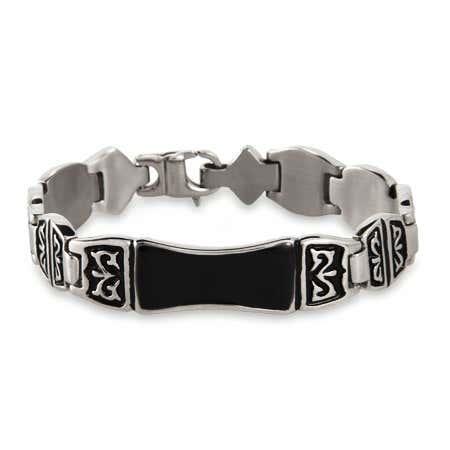 Men's Engravable Tribal Design ID Bracelet | Eve's Addiction®