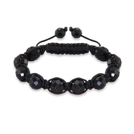 10mm Black Faceted Shamballa Inspired Bracelet | Eve's Addiction®